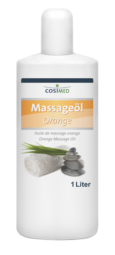 Massageöl Orange, 1-Lieter-Flasche
